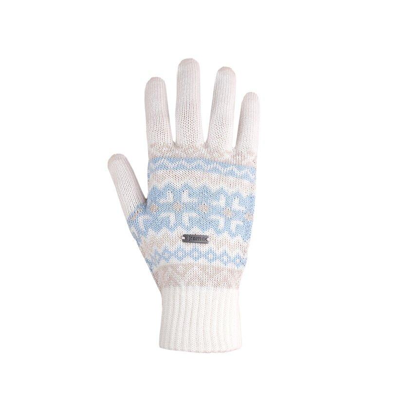 Mănuși tricotate Merino Kama R107 - Alb natural