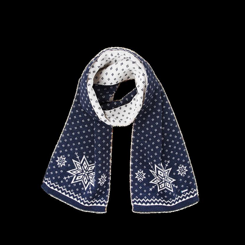 Knitted scarf merino Kama S23 - Dark Blue / Navy