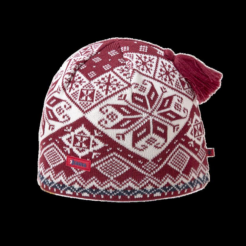 Knitted merino cap KAMA AW61 - Red