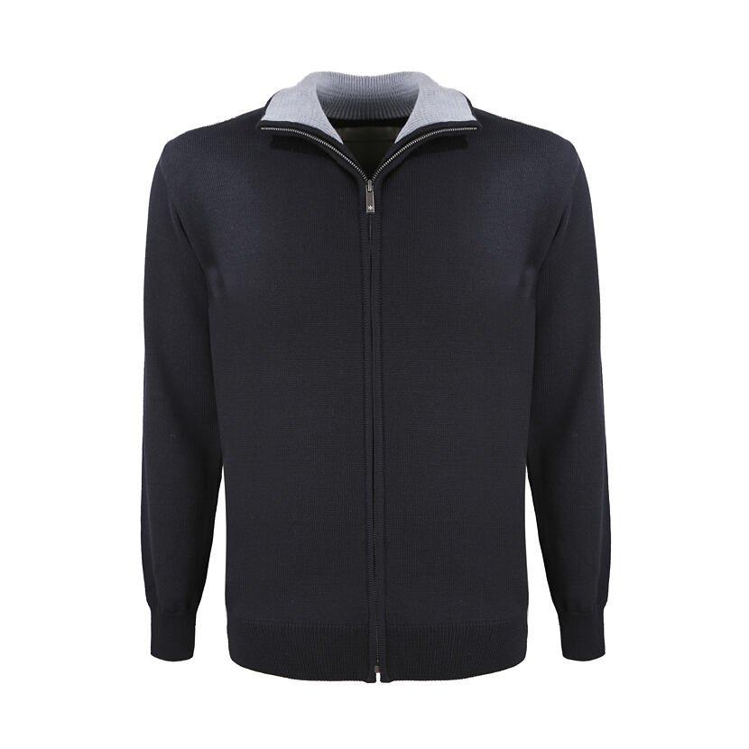 Pánský pletený svetr Merino Kama 4107 černá