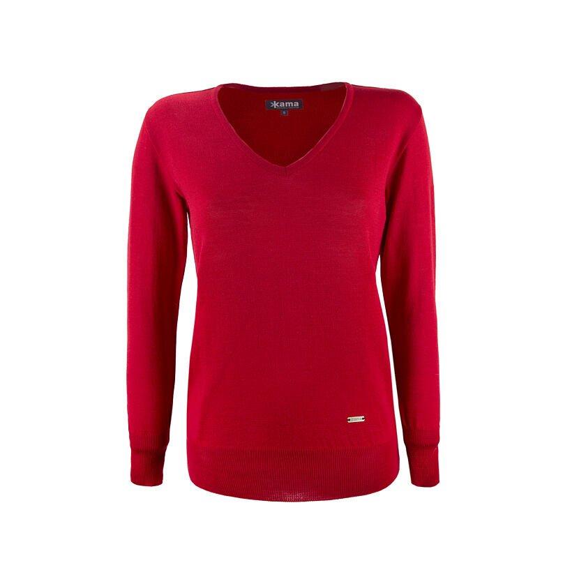 Pulover femei Merino KAMA 5103  Roșu