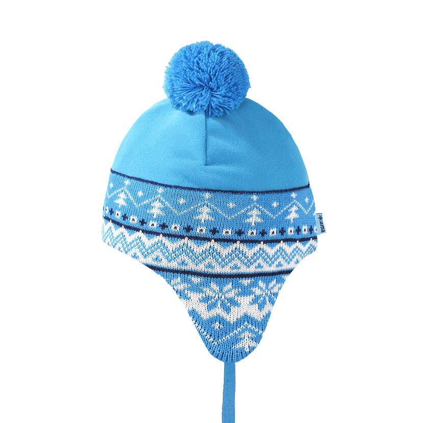 Kid's Knitted Merino Cap KAMA B89 - / Turquoise  Cyan