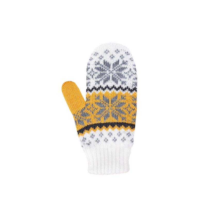 Detské pletené palčiaky Merino Kama RB204 Biela