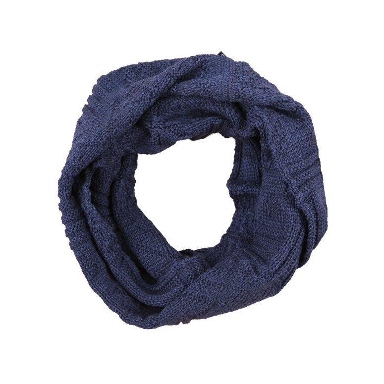 Knitted scarf/neck warmer merino KAMA - Dark Blue