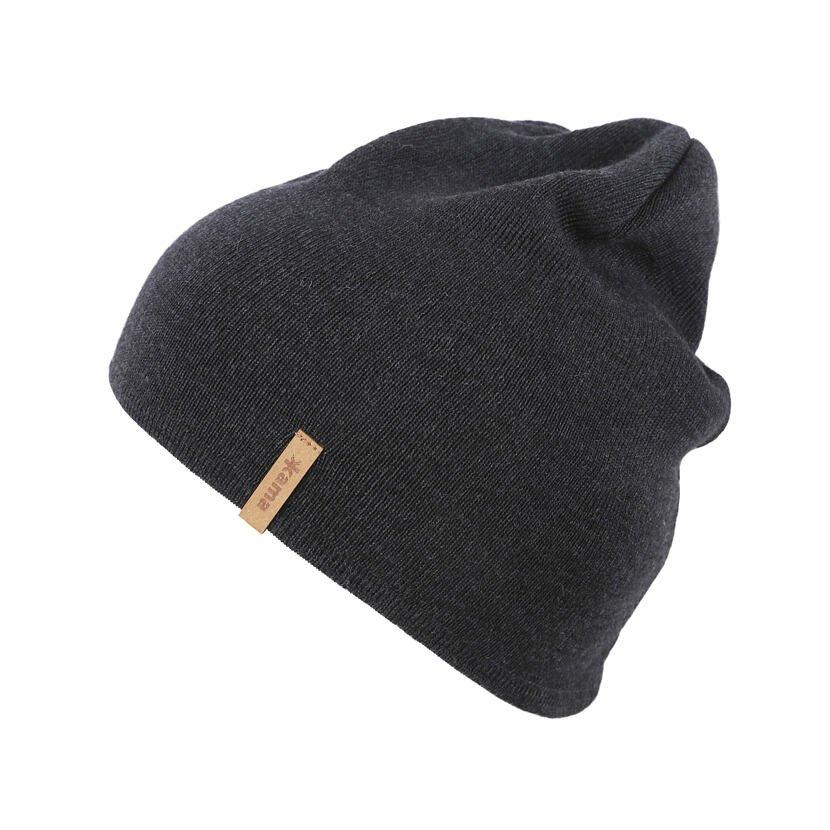 Pletená čepice Merino Kama A160 tmavě šedá