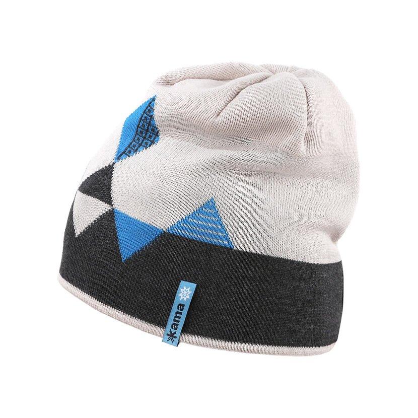 Detská pletená čiapka Merino Kama B95