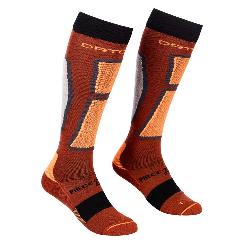 Men's knee socks Ortovox Ski Rock'n'Wool Socks Merino - Clay Orange