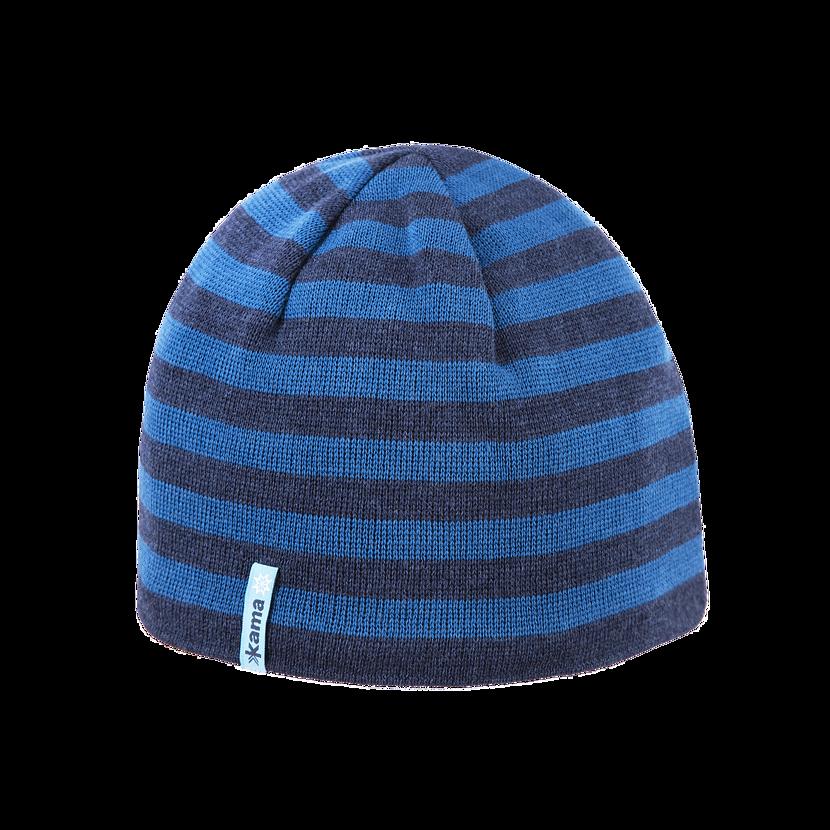 Pletená merino čiapka Kama A122  tmavomodrá