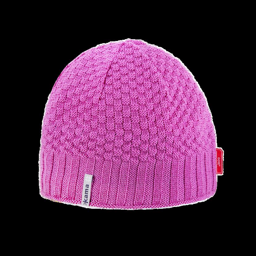 Knitted merino cap KAMA AW63  Pink