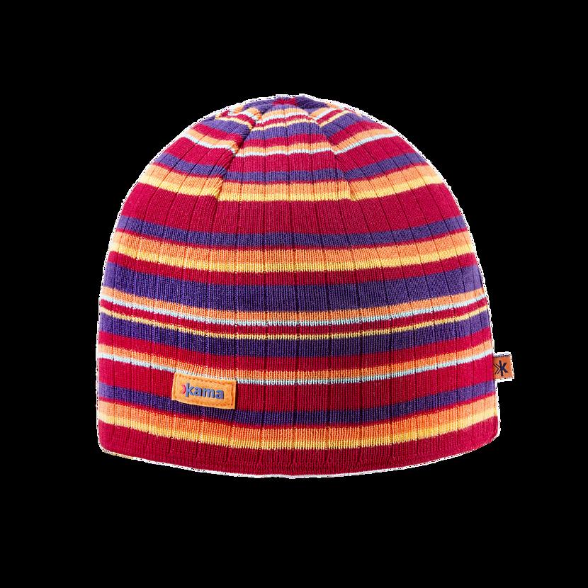 Knitted merino cap KAMA A129 - Red