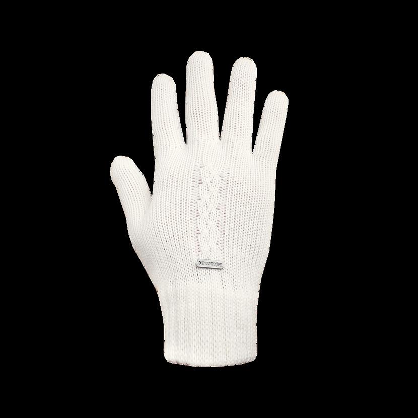 Mânuși merino tricotate KAMA R103  Alb natural
