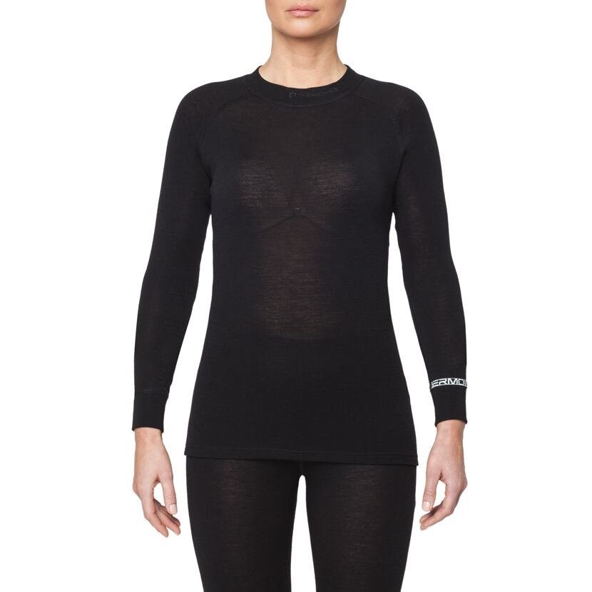 Tricou funcțional merino femei WARM Thermowave  Negru