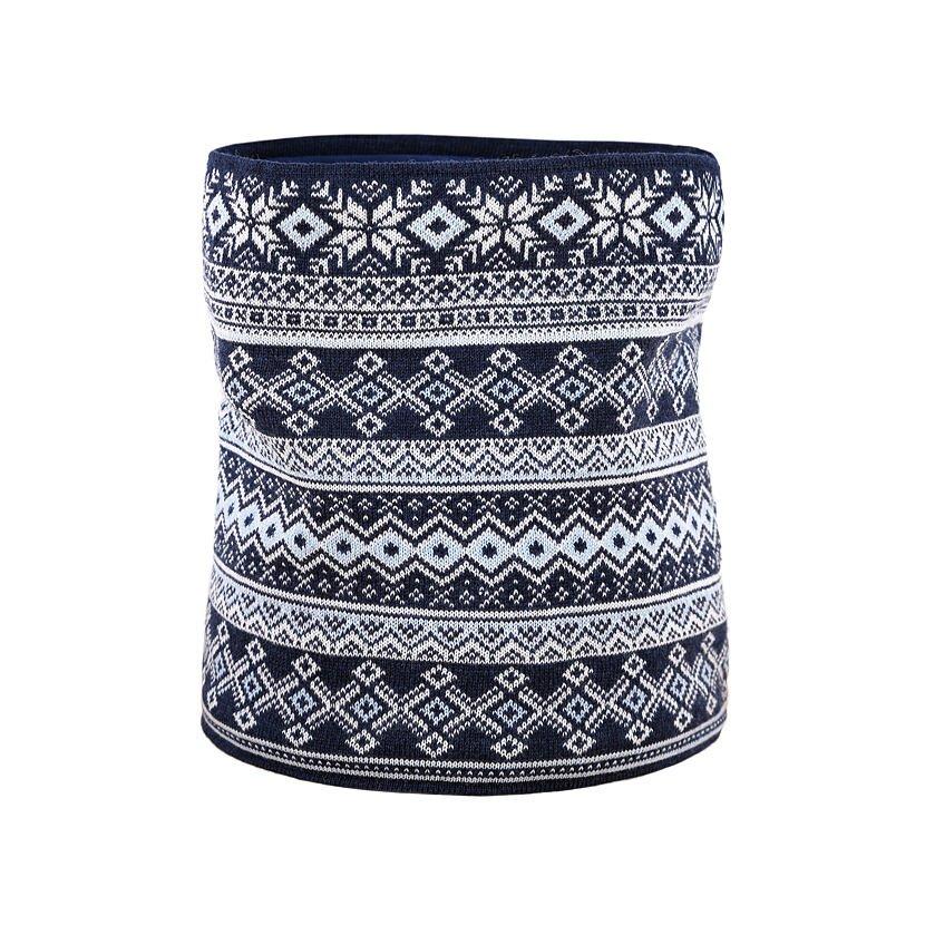 Fular tricotat tip tunel Merino Kama S28  Albastru închis