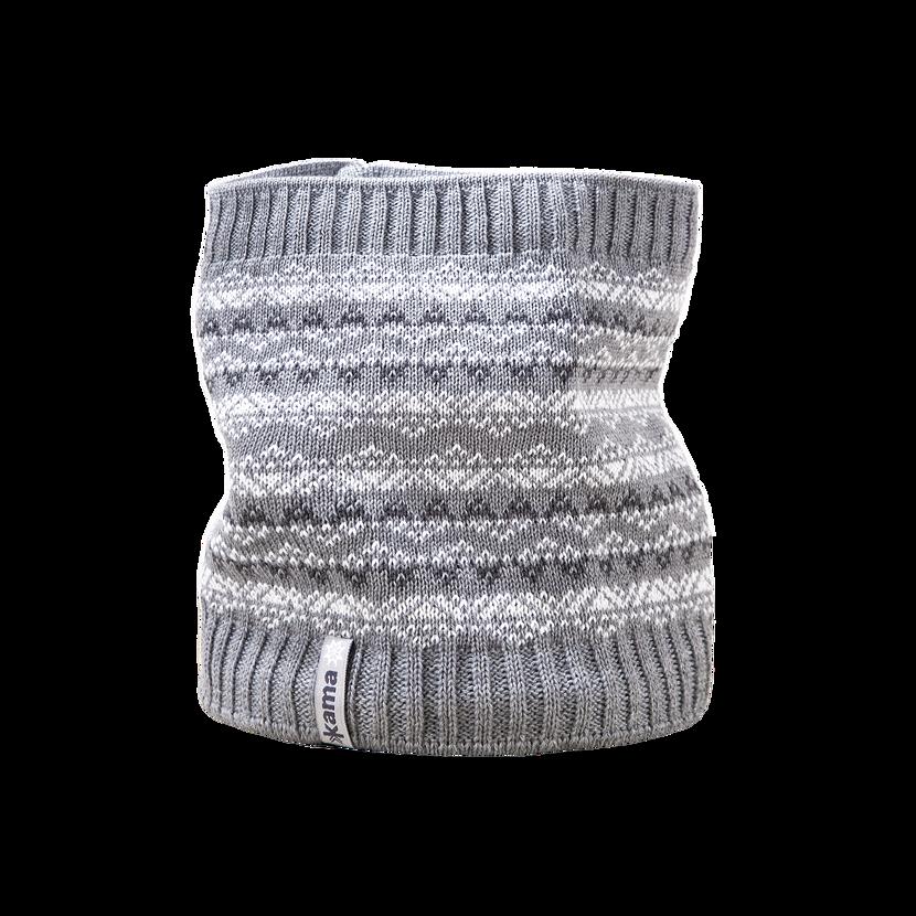 Detský pletený nákrčník merino KAMA SB11  sivá