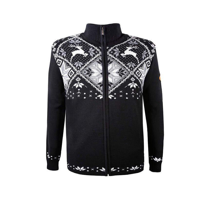 Pletený sveter Merino Kama 4055 Čierna