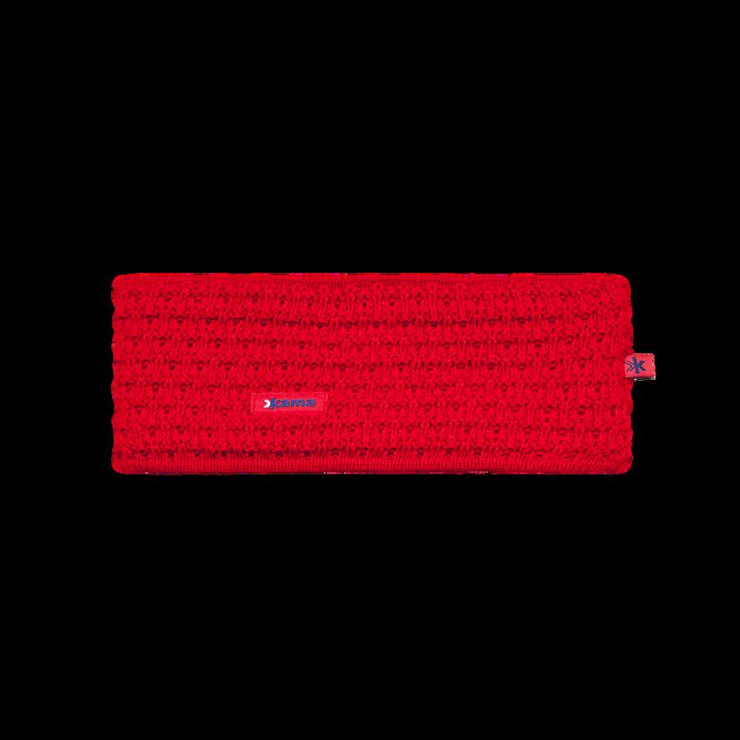 Knitted headband merino KAMA C36 - Red