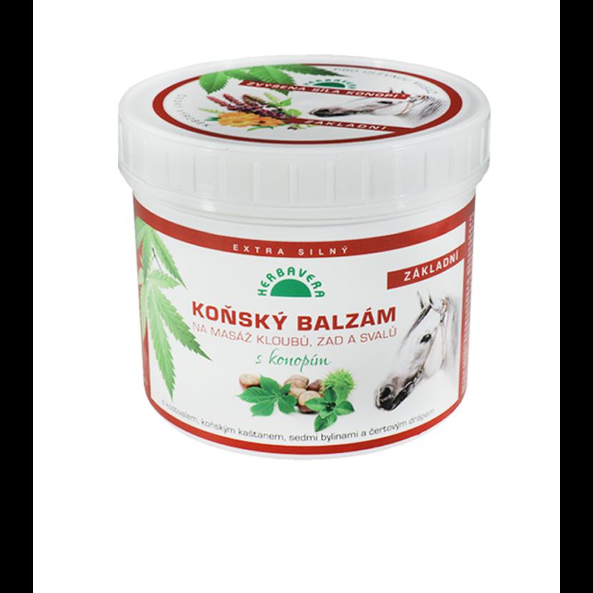 Lóbalzsam kenderrel és gesztenyével 500 ml