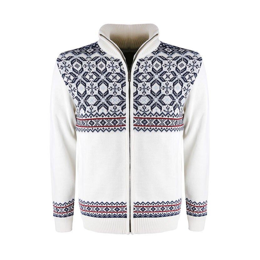 Pletený sveter Merino Kama 4096 prírodnábiela