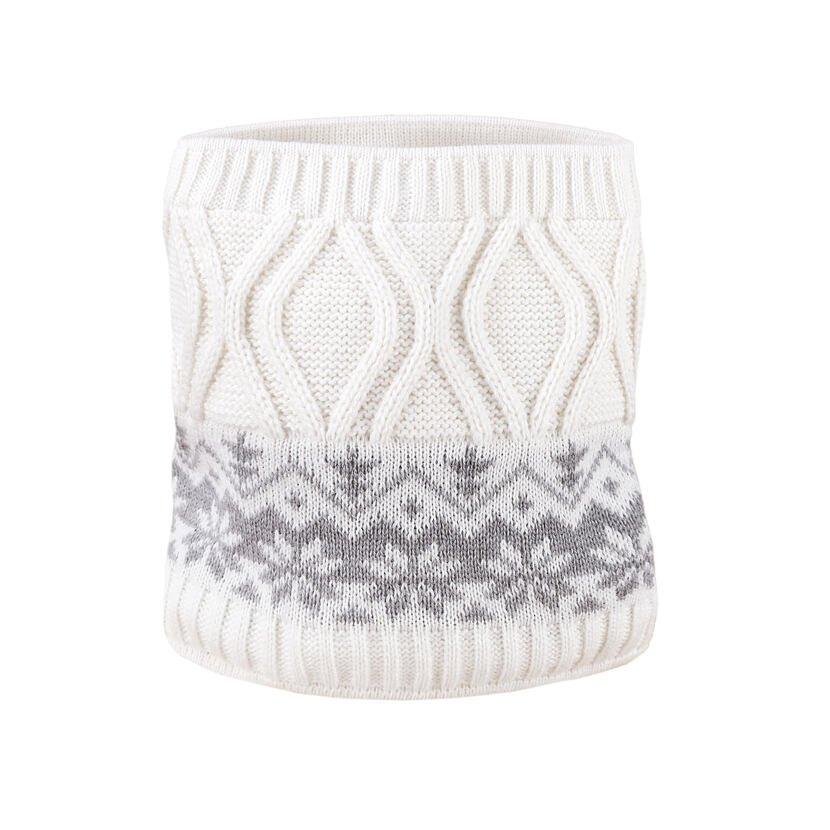 Dětský pletený Merino nákrčník SB15 přírodní bílá