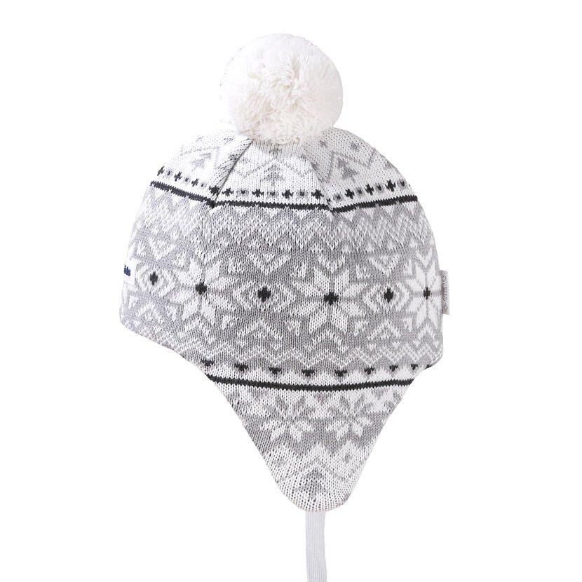 Căciulă tricotată pentru copii Merino Kama BW22 - Alb natural