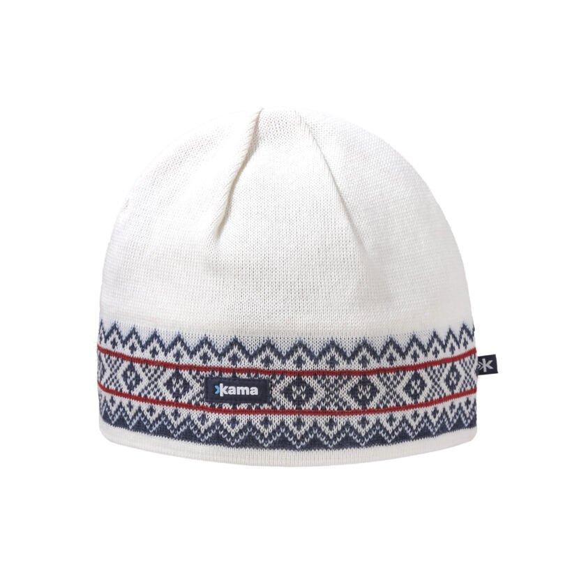 Căciulă tricotată Merino Kama A144 - Alb natural