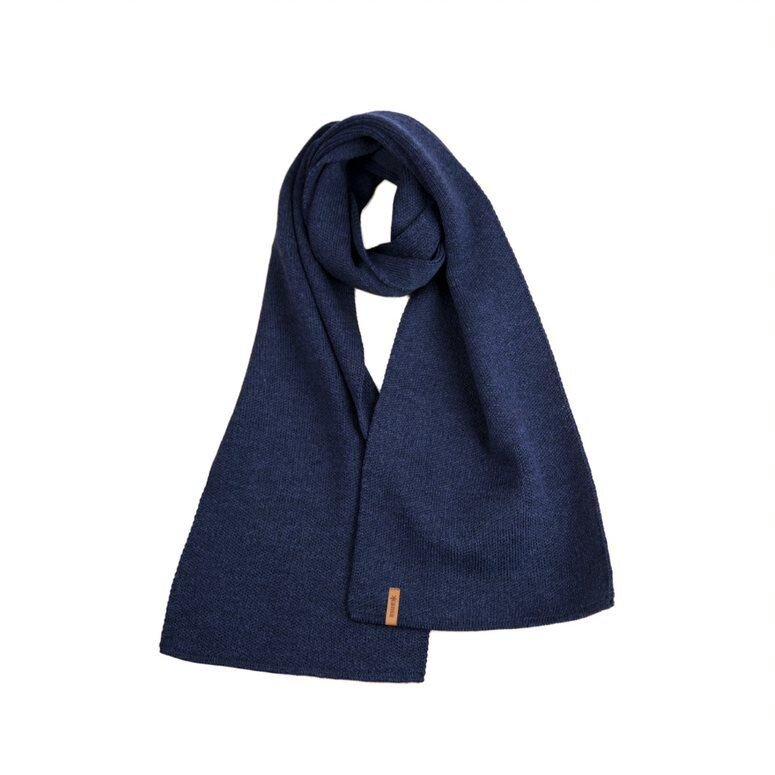 Unisex knitted scarf merino Kama S07 - Dark Blue / Navy