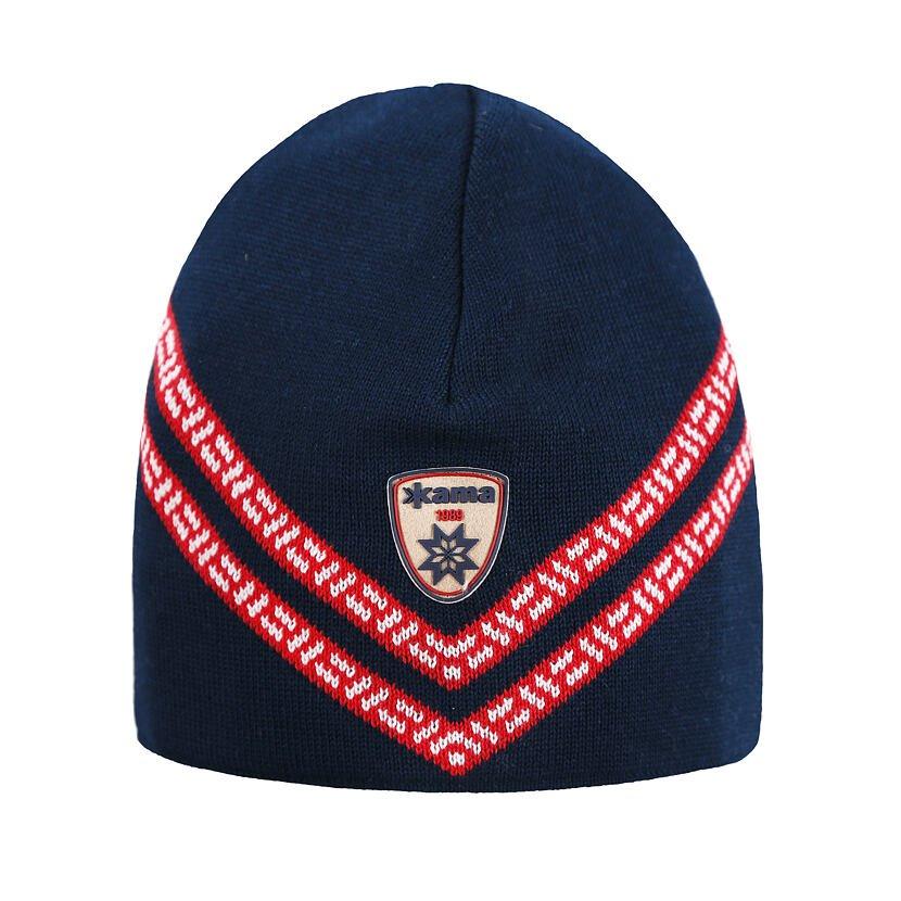 Pletená čepice Merino Kama A156 tmavě modrá