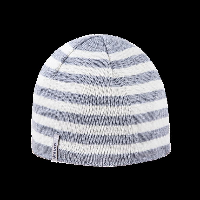 Knitted merino cap KAMA A122 - Gray