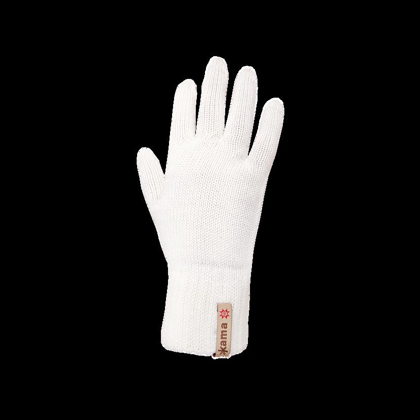 Knitted Merino gloves Kama R101  White