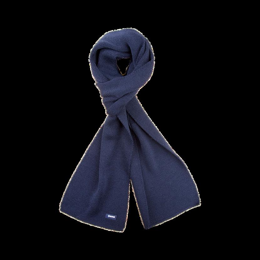 Șal tricotat Merino KAMA S22  Albastru închis