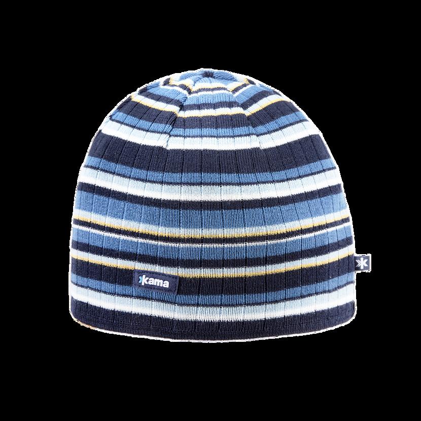 Pletená Merino čepice Kama A129 tmavě modrá