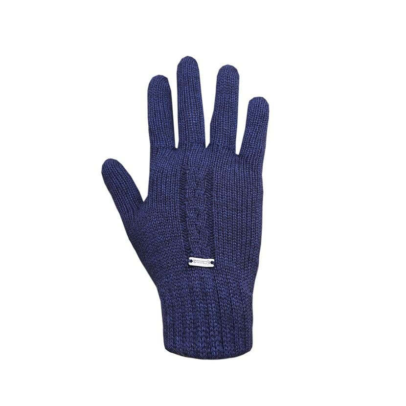 Pletené rukavice Merino Kama R103 tmavomodrá