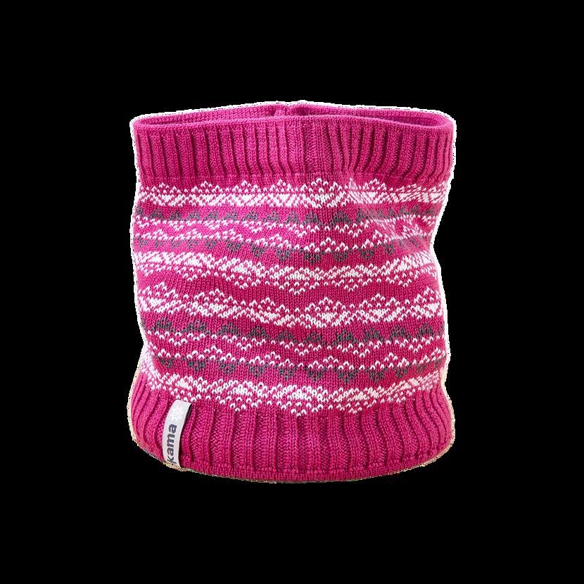 Dětský pletený Merino nákrčník SB11 růžová