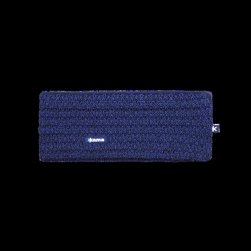 Pletená čelenka merino KAMA C36 -  tmavomodrá