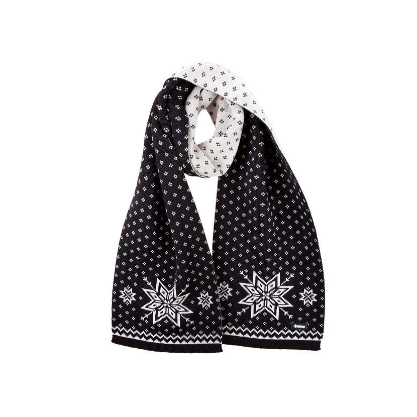 Pletená šála Merino Kama S23 černá