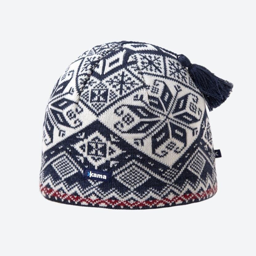 Căciulă tricotată Merino Kama AW61 - Albastru închis