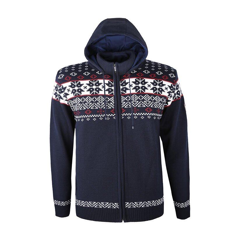 Pletený sveter Merino Kama 3045 tmavomodrá