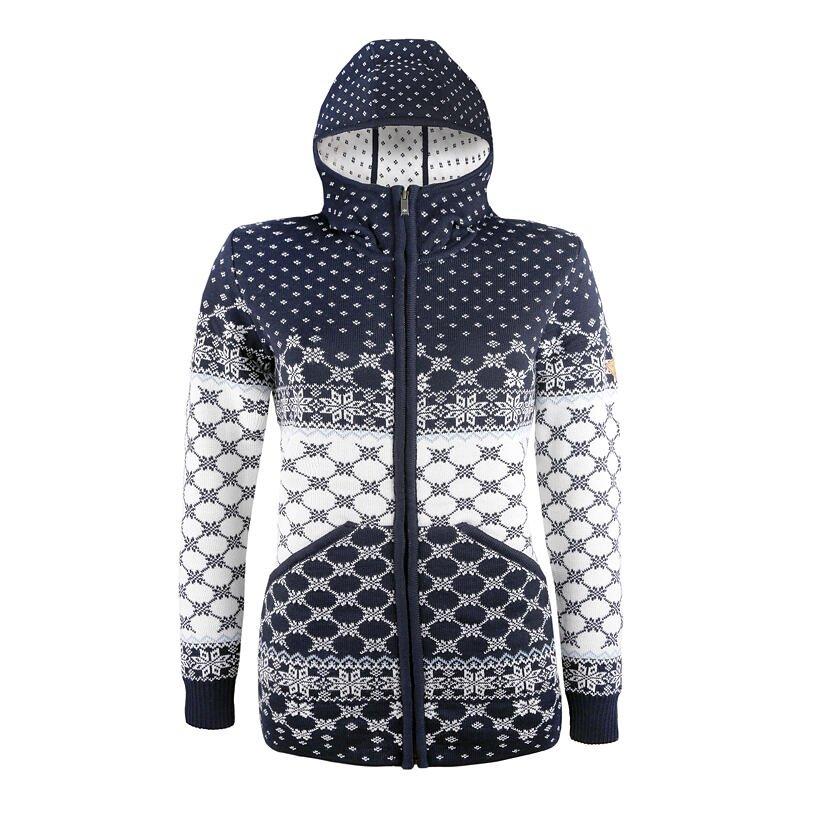 Women's Merino Sweater KAMA 5027 - Dark Blue / Navy