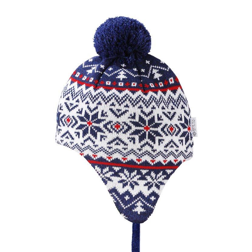 Dětská pletená Merino čepice Kama BW22 tmavě modrá