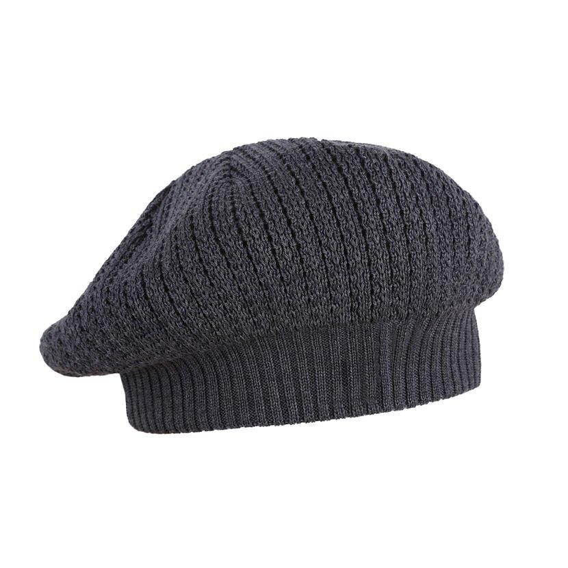 Pletený baret Kama A39  tmavosivá