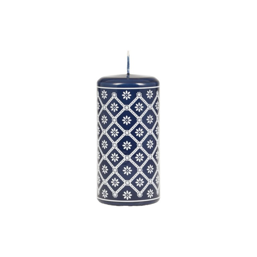 """Candle - """"Indigo Dye/Modrotisk"""" Blue, Large"""