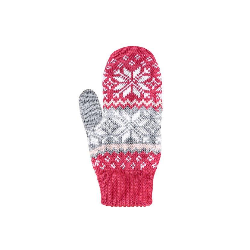 Dětské pletené palčáky Merino Kama RB204 růžová