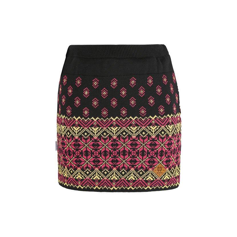 Merino knit skirt Kama 6008 - Black