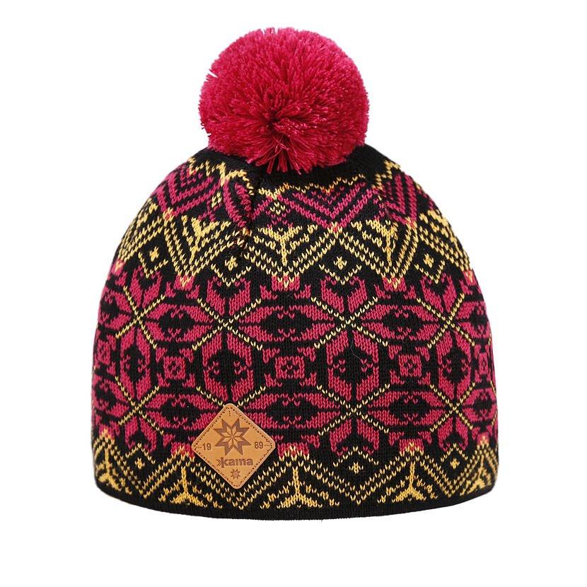 Merino knit hat Kama K65 - Black