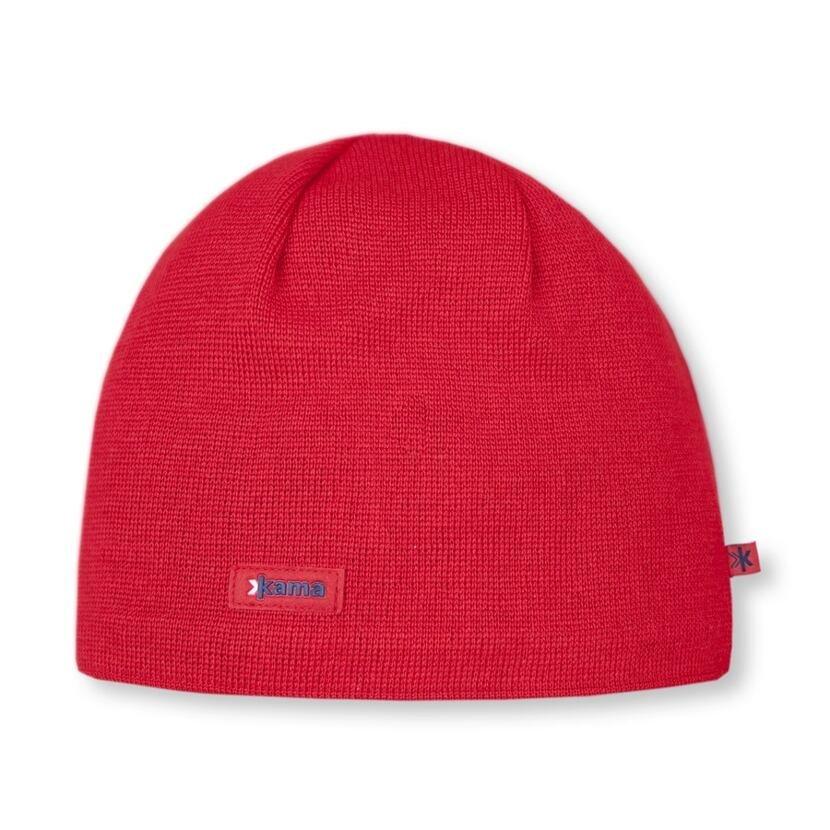 Pletená čiapka Merino Kama AW19 červená