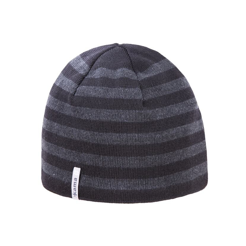 Pletená merino čiapka Kama A122  čierna