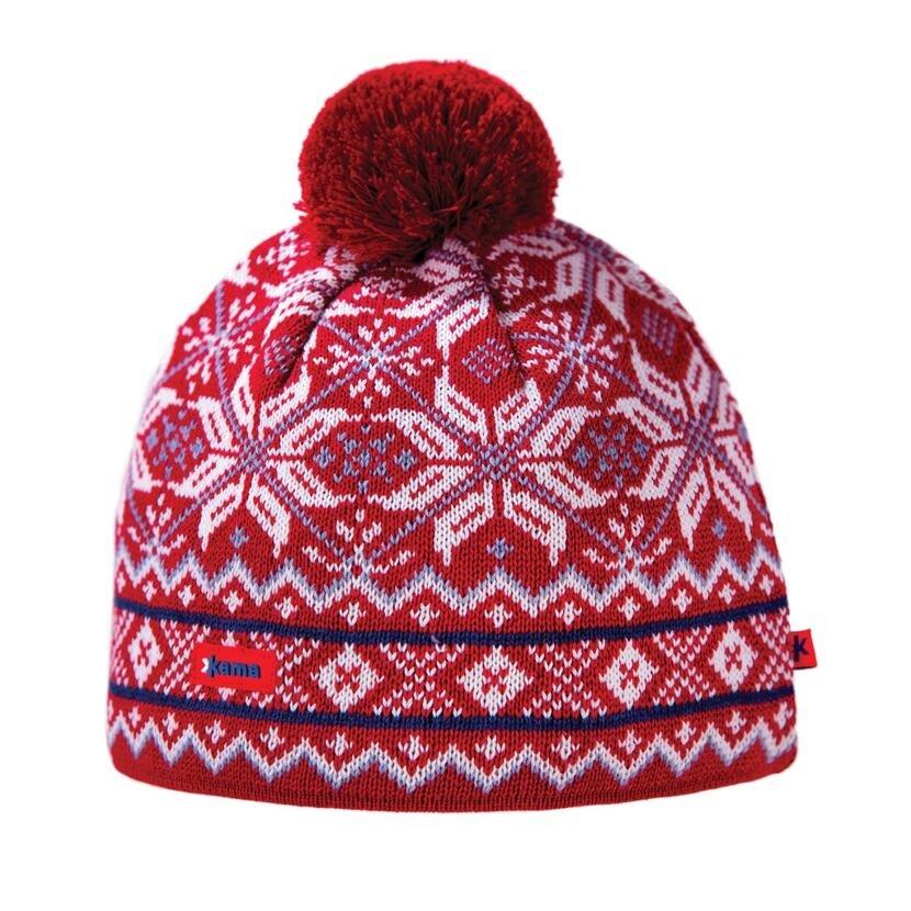 Pletená čiapka Merino Kama AW06 Gore-tex červená