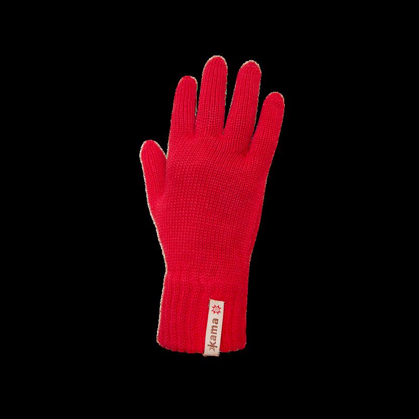 Knitted Merino gloves Kama R101  Red