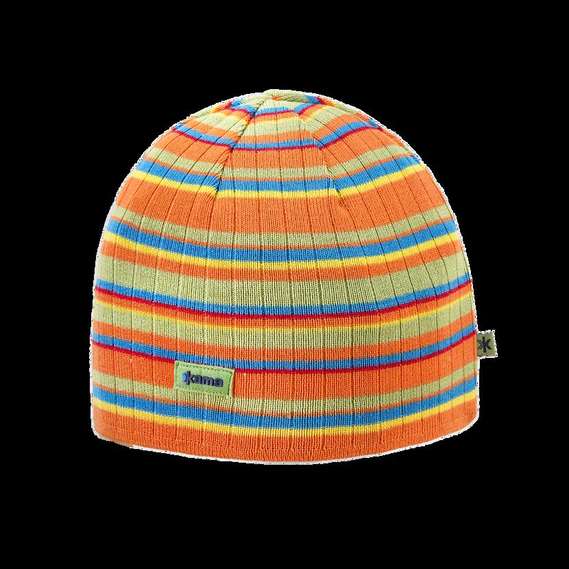Knitted merino cap KAMA A129 - Orange