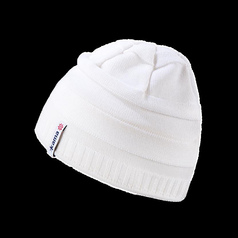 Dětská pletená merino čepice KAMA B78 bílá
